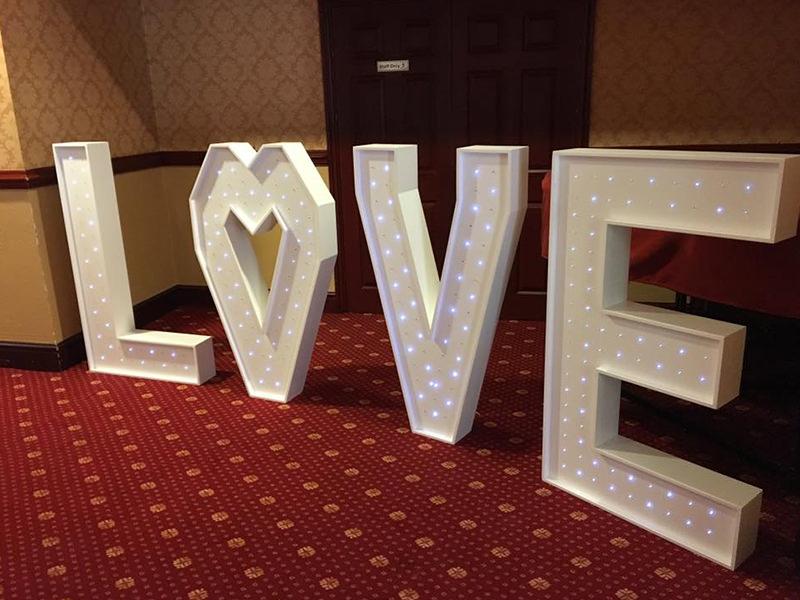 4ft LED Sparkling LOVE Letters