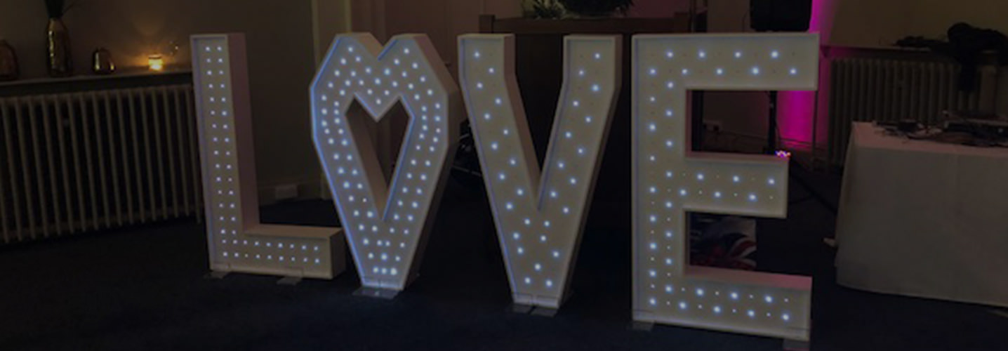 Sapphire Occasions - 4ft LED Sparkling LOVE Letters