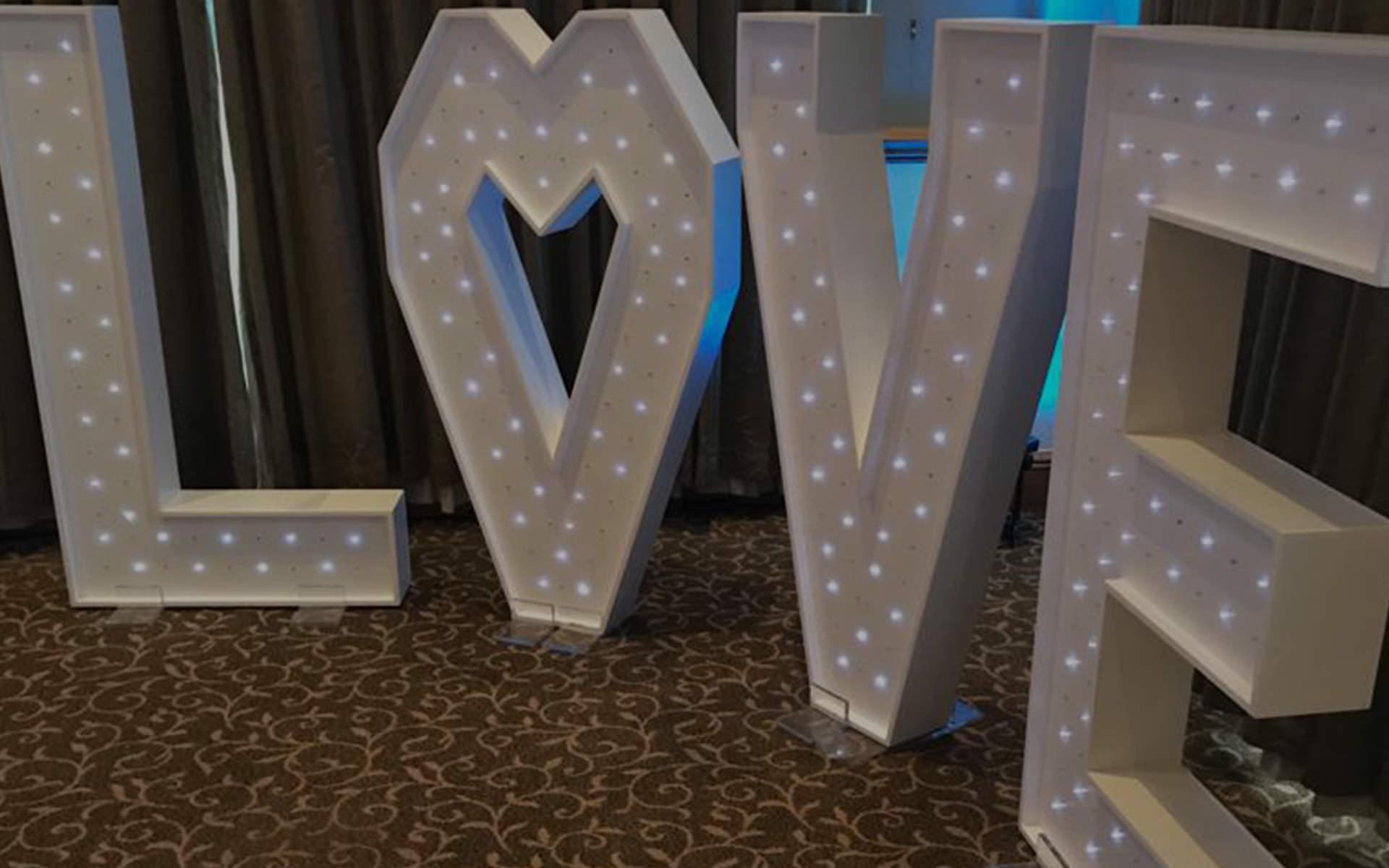 4ft Sparkling LOVE letters